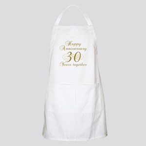 30th Anniversary (Gold Script) Apron